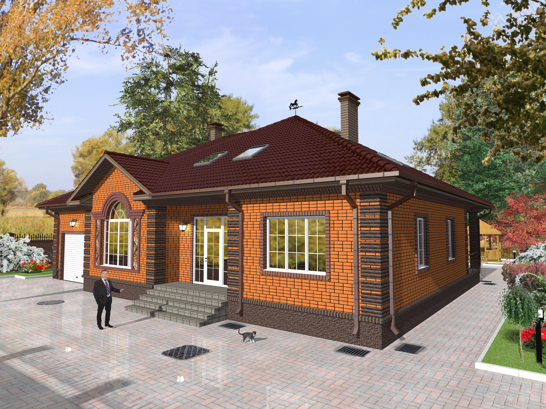 подготовить фасады одноэтажных домов из кирпича фото живой жизнью жить